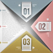 abstrakt infographic design med papper numrerade element — Stockvektor