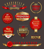 Set of premium & quality golden labels — Stock vektor