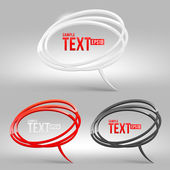 Abstract glossy speech bubbles - vector illustration — Stock Vector