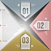 Abstract infographic design with paper numbered elements — Stockvector