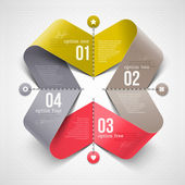 Abstract shape with infographics elements - vector illustration — Vettoriale Stock