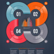 Abstract infographics design with numbered paper elements - vector illustration - Stockvektor
