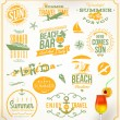 Vector set of travel and vacation emblems and symbols — Stock Vector