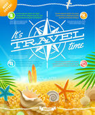 Vacation, travel and summer holidays vector design — Stock Vector