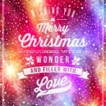 Kerst groeten op een vakantie winter achtergrond - vectorillustratie belettering — Stockvector  #34288541