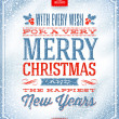 Vector Christmas greeting card - holidays lettering on a winter snow background — Vector de stock