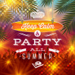 Summer holidays party greeting - vector type design — Stock Vector #45440845
