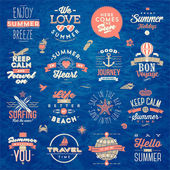 Set of travel and summer vacation type design - vector illustration — 图库矢量图片