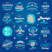 Vector illustration - Set of travel and summer vacation type design — Stock Vector