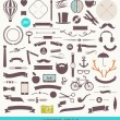 Hipster style vector set - simple silhouette design elements — Stock Vector #49923913