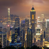HongKong cityscape at sunset — Stock Photo