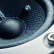 Stock Photo: Subwoofer element close-up