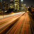 Stock Photo: Highway in city at night