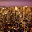 manhattan di New york di notte — Foto Stock