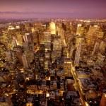 New york manhattan at night — Stock Photo