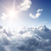 Amazing view to sky above clouds — Stock Photo