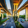 Interstate highway bridges and connecting over pass — Foto Stock