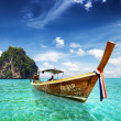 Stock Photo: Thai sea with tail boat and beautiful sea