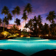 Beach resort in the tropics — Stock fotografie