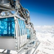 Stock Photo: CableWay at winter - alpen resort