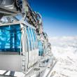 CableWay at winter - alpen resort — Stock Photo