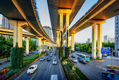 Interstate highway bridges and connecting over pass — Stock Photo