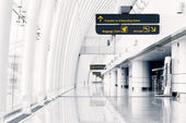White hall at airport — Stock Photo