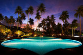 Beach resort in the tropics — Foto Stock