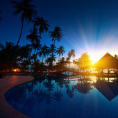 Sunset at Thailand paradise — Stock Photo