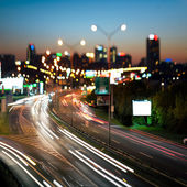 Highway in city at night — Stock Photo