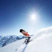 Girl On the Ski — Stock Photo