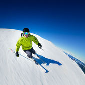 Skieur en montagnes — Photo