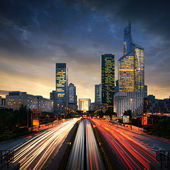 Paris La Defense at sunset - La Defense — Stock Photo