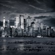 NewYork manhattan at sunset - New York City — Stock Photo