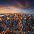 Stock Photo: New York City skyline at sunset