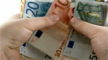 counting euros — Stock Video #12521935