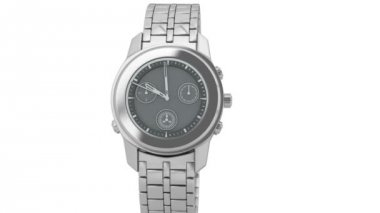Silver chronograph wrist watch — 图库视频影像
