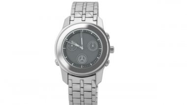 Silver chronograph wrist watch — Video Stock