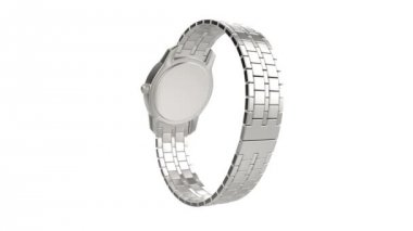 Silver wristwatch — Vídeo Stock