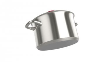 Stainless steel pot — 图库视频影像