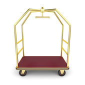 Luggage cart — Stock Photo