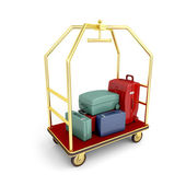 Hotel luggage cart — Stock Photo