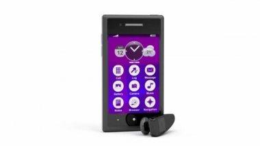 Smartphone and handsfree — Video Stock