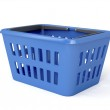 Blue shopping basket — Stock Photo #37949273