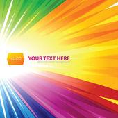 Sfondo linee arcobaleno — Vettoriale Stock