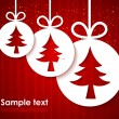 Christmas applique background — Stock Vector