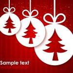 クリスマスのアップリケの背景 — ストックベクタ