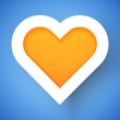 Heart applique background — Wektor stockowy  #15869701