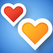 Heart applique background — Wektor stockowy  #15869713