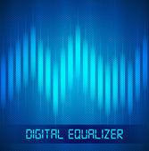 Ecualizador digital — Vector de stock